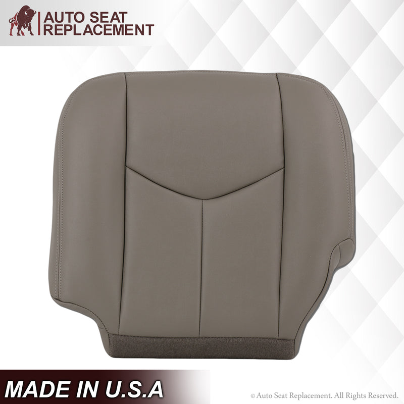 2003 2004 2005 2006 2007 GMC Yukon leather Bottom SLT SLE XL Seat Cover replacement Light Gray 92i Auto Seat Replacement