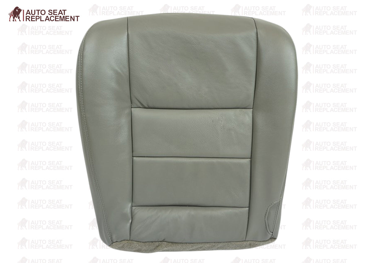 Leather Seat Cover Gray 2002 2003 2004 2005 2006 2007 Ford F250 F350 Lariat Driver