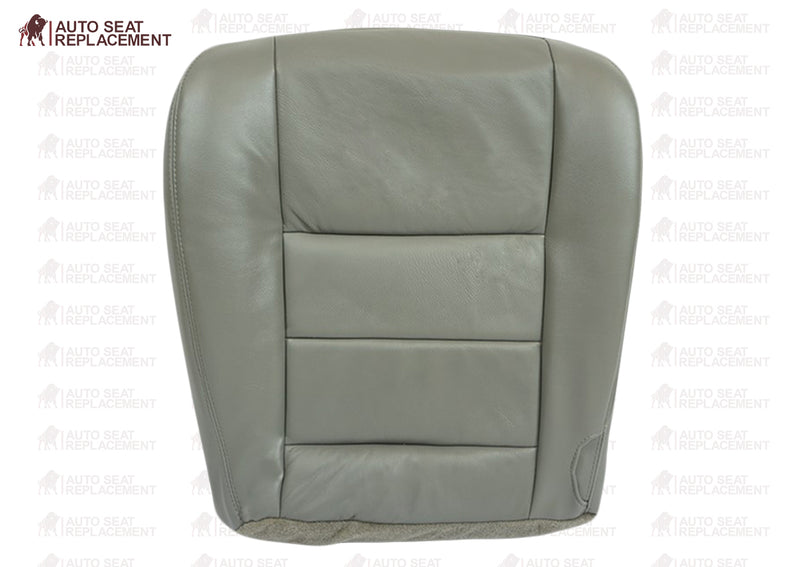 2002-2003-2004-2005-2006-2007 Ford F250 F350 Lariat Driver and passenger Replacement Leather Seat Cover-Gray