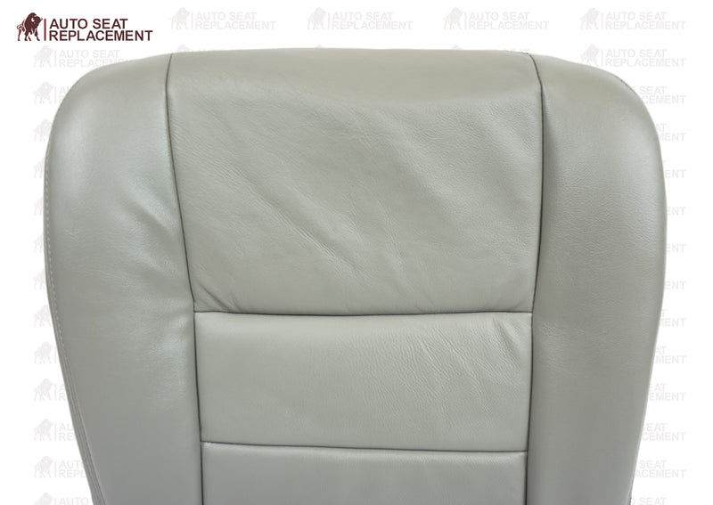 2002 2003 2004 2005 2006 2007 Ford F250 F350 Lariat Bottom Leather Seat Cover Gray