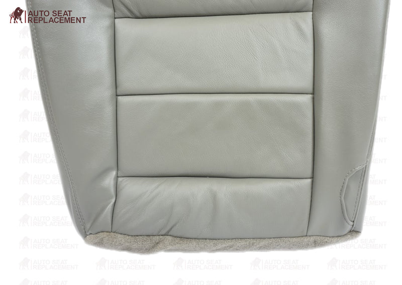 2002 2003 2004 2005 2006 2007 Ford F250 F350 Lariat Bottom Leather Seat Cover Gray - Auto Seat Replacement