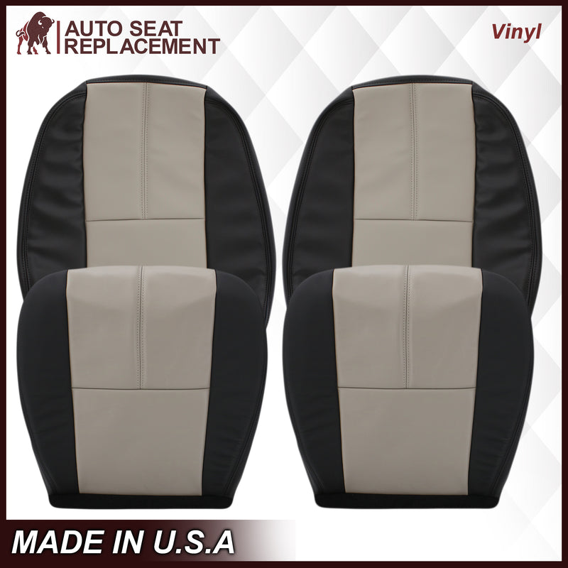 2007-2014 Chevy Silverado Seat Cover In 2tone Gray/Black: Choose From Variation