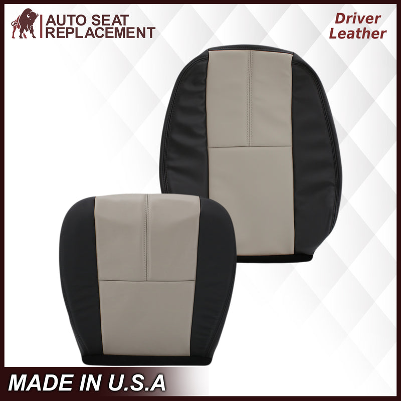 2007 2008 2009 2010 2011 2012 2013 2014 Chevy Silverado Driver Passenger Bottom Top Leather OEM replacement seat cover replacement Auto Seat Replacement