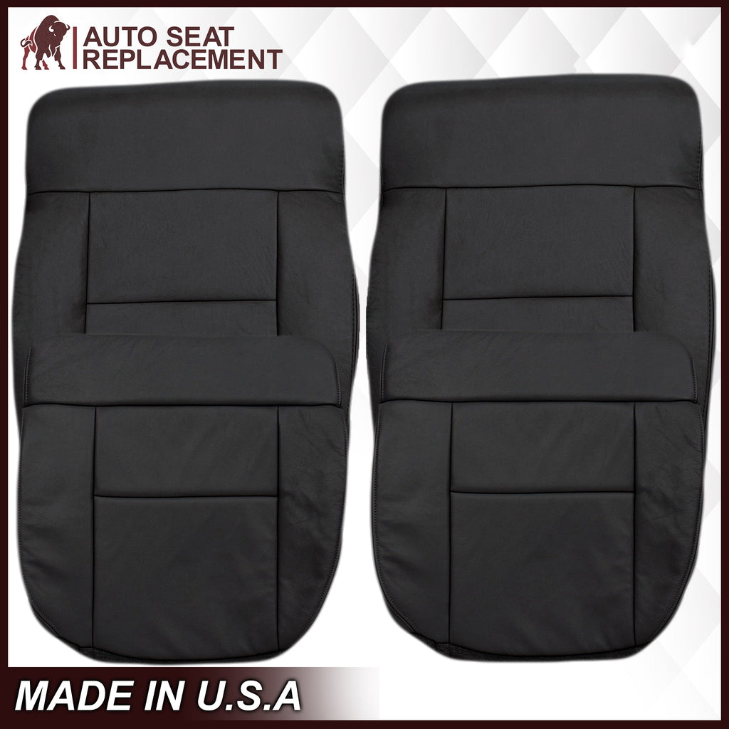 2004-2008 Ford F150 Seat Cover in Black: Choose Leather or Vinyl