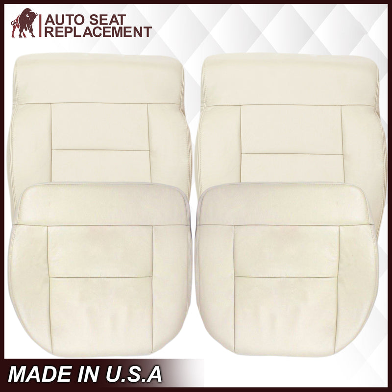 2004 Ford F150 Seat Cover in Light Parchment Tan: Choose Leather or Vinyl
