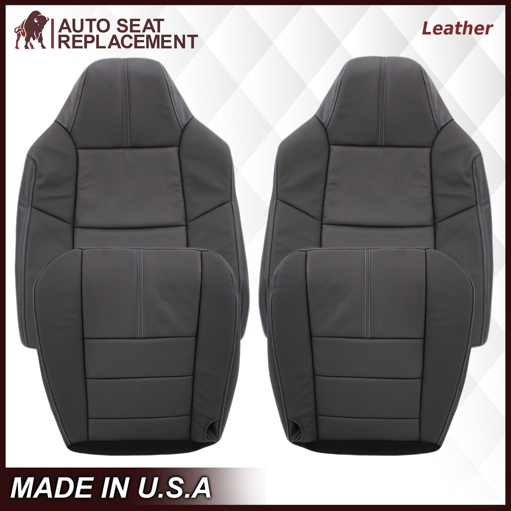 2008-2010 Ford F-250 F-350 F-450 F-550 Lariat Seat Cover in Black: Choose From Variants