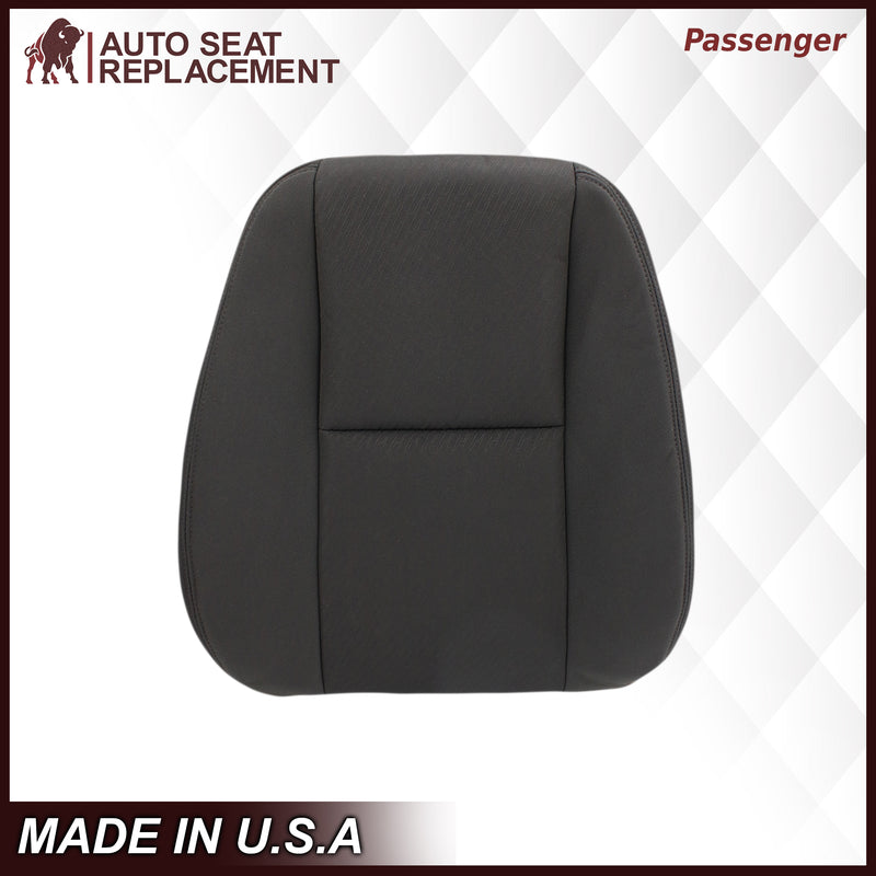 2007 2008 2009 2010 2011 2012 2013 2014 Chevy Silverado Driver Passenger Bottom Top ClothBlack OEM replacement seat cover replacement Auto Seat Replacement