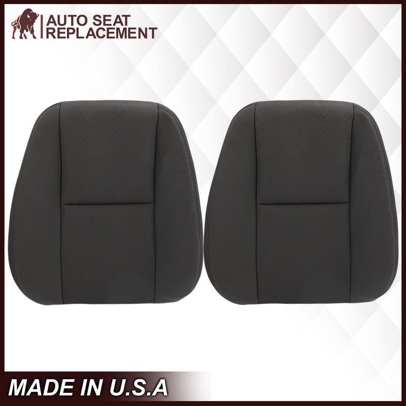 2007 2008 2009 2010 2011 2012 2013 2014 Chevy Silverado Driver Passenger Bottom Top Cloth OEM replacement seat cover replacement Auto Seat Replacement