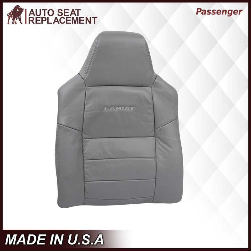 2002-2007 Ford F250/F350/F450/F550 Lariat Seat Cover in Flint Gray: Choose Leather or Vinyl