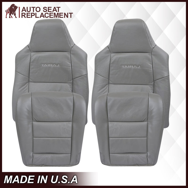 2003-2007 Ford F250/F350/F450/F550 Lariat Seat Cover in Flint Gray: Choose Leather or Vinyl