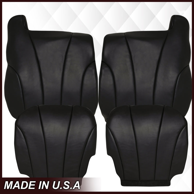 1999 2000 2001 2002 GMC Sierra Work Truck vinyl Seat Cover Replacement in Dark Graphite Gray