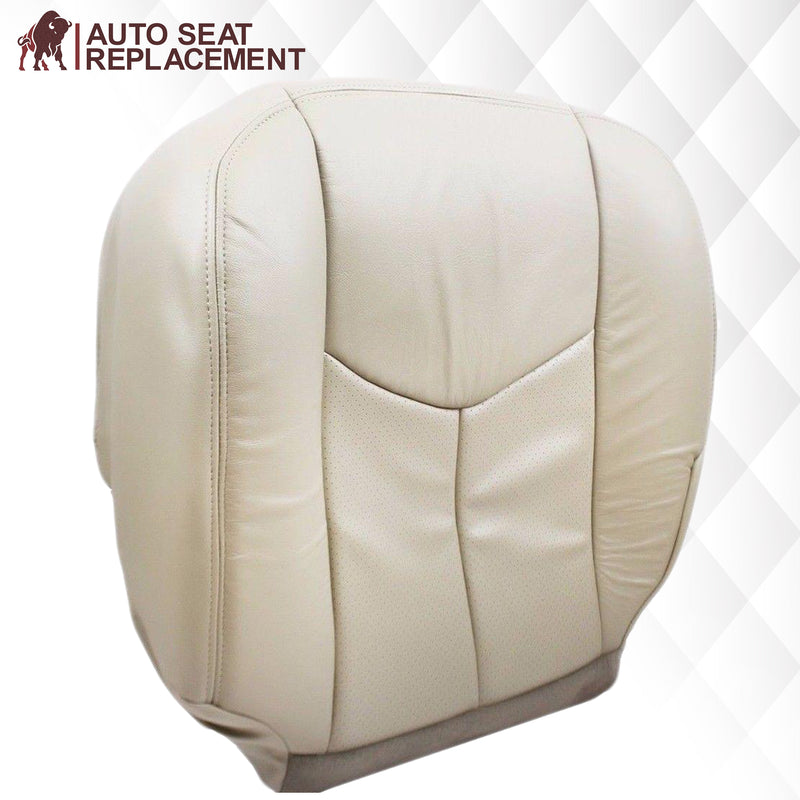 2003 2004 2005 2006 cadillac escalade driver bottom leather vinyl seat cover replacement in tan Auto Seat Replacement