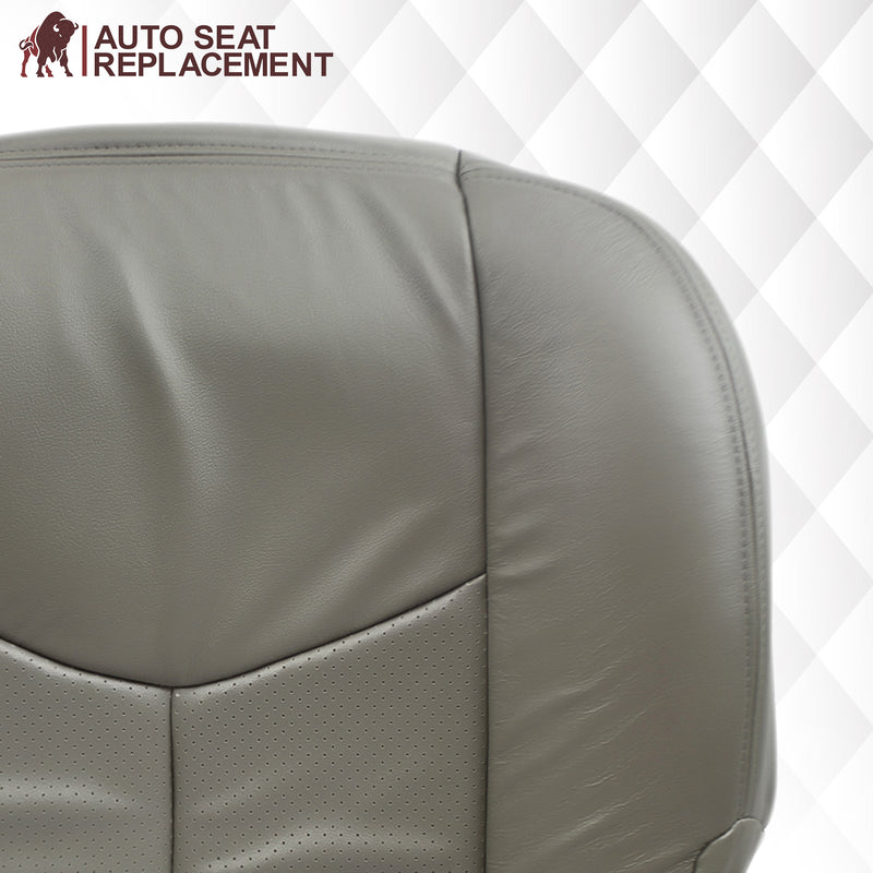 2003 2004 2005 2006 cadillac escalade driver bottom leather vinyl seat cover replacement in pewter gray Auto Seat Replacement