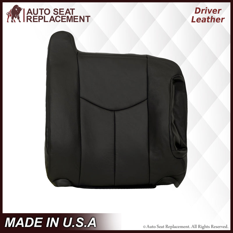 2003-2007 Chevy Silverado/Avalanche Seat Cover in Dark Gray: Choose Leather or Vinyl