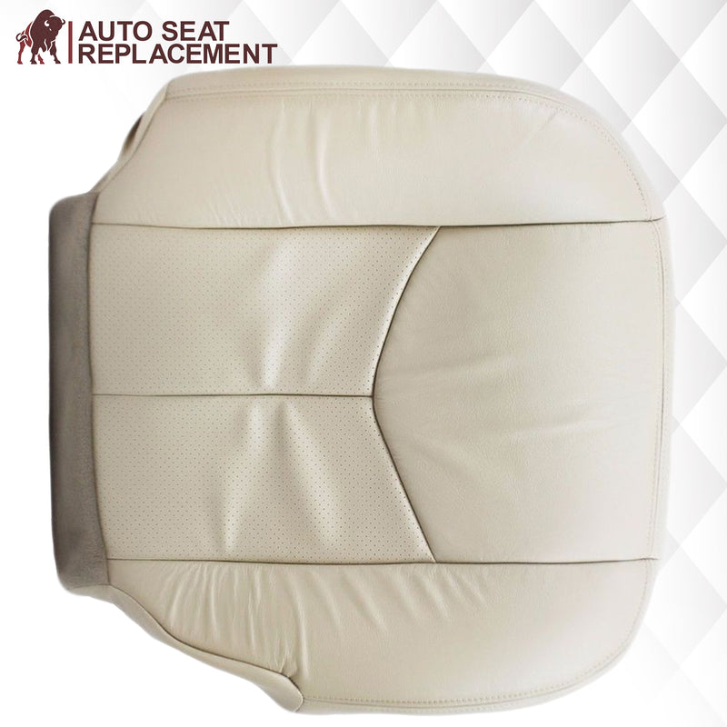 2003 2004 2005 2006 cadillac escalade passenger bottom leather vinyl seat cover replacement in tan Auto Seat Replacement