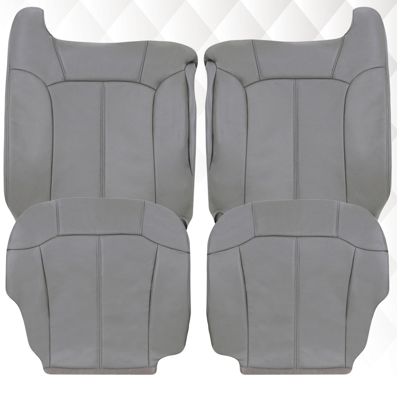 1999 2000 2001 2002 GMC Sierra leather Seat Cover Replacement Pewter Gray