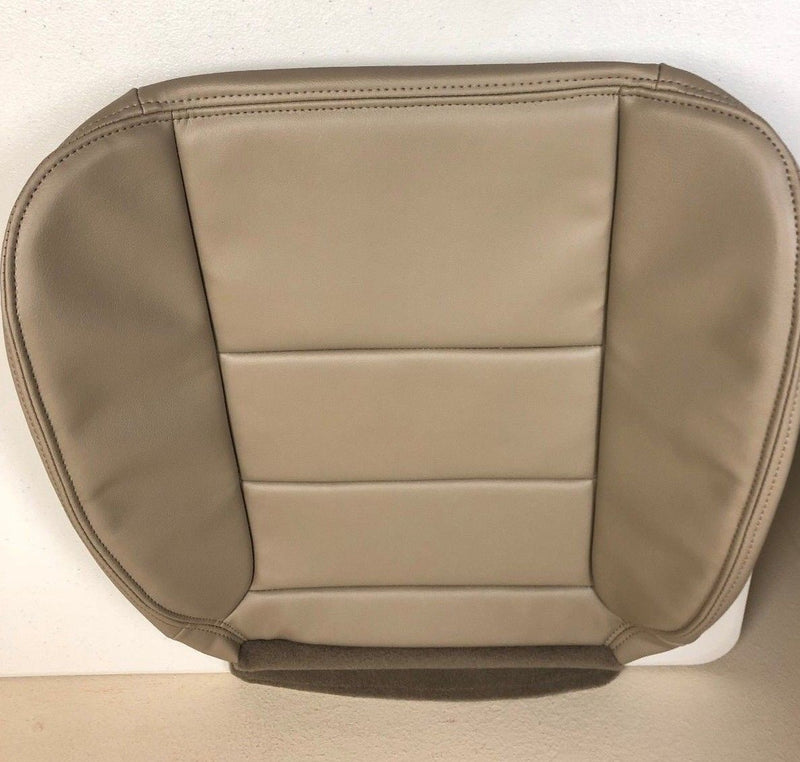 2005 2006 07 Ford F250 F350 Lariat Extended Cab-Passenger Bottom Seat Cover-Tan- - Auto Seat Replacement