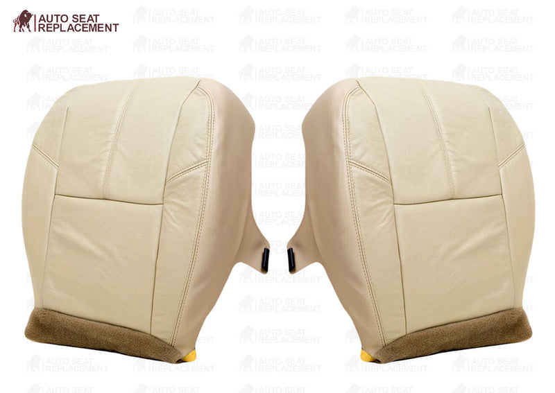 2007 To 2013 Chevy Silverado Driver Bottom Leather or Vinyl Seat Cover Light Tan - Auto Seat Replacement