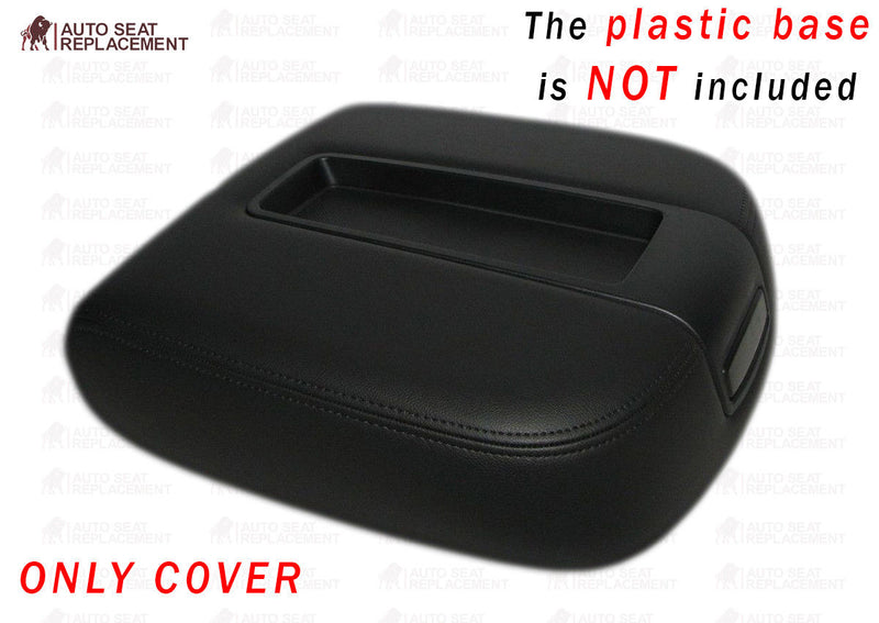 Armrest Cover 07-13 Tahoe Suburban Escalade Center Console Lid Black, Vinyl - Auto Seat Replacement