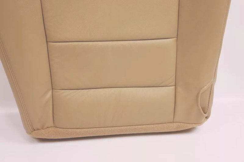 2005 2006 Ford F250 F350 Lariat Driver Bottom Leather Seat Cover TAN - Auto Seat Replacement