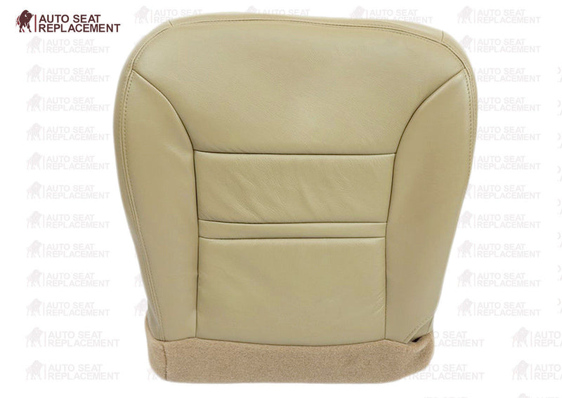 2000 2001 Ford Excursion Driver or Passenger Bottom Seat Cover Replacement Tan - Auto Seat Replacement