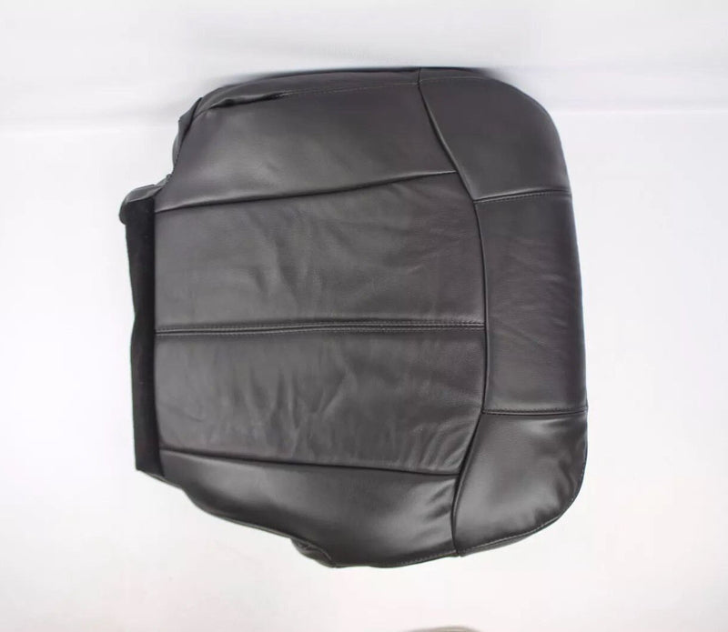 2000 2001 2002 Chevy Silverado & Sierra Passenger Bottom Seat Cover Black vinyl - Auto Seat Replacement