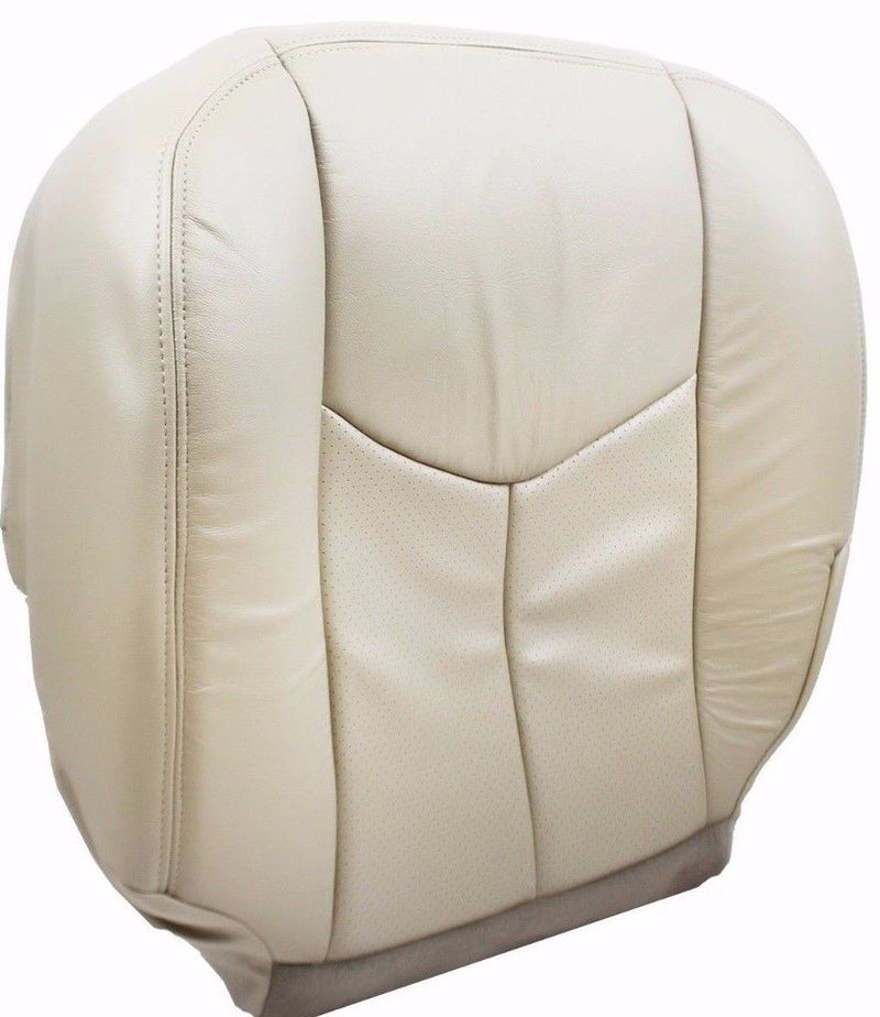 2006 2005 2004 2003 Cadillac Escalade Passenger  Bottom Leather Seat Cover Tan - Auto Seat Replacement