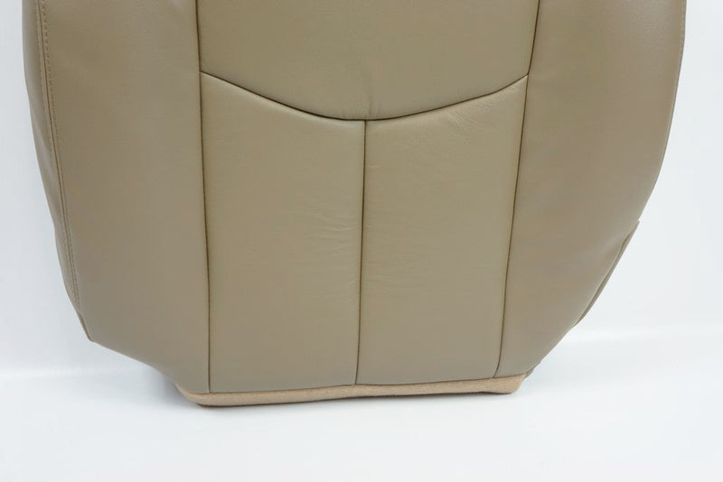 2003 2004 2005 2006 GMC Sierra Driver Bottom And Top Back Seat Cover TAN/ Vinyl - Auto Seat Replacement