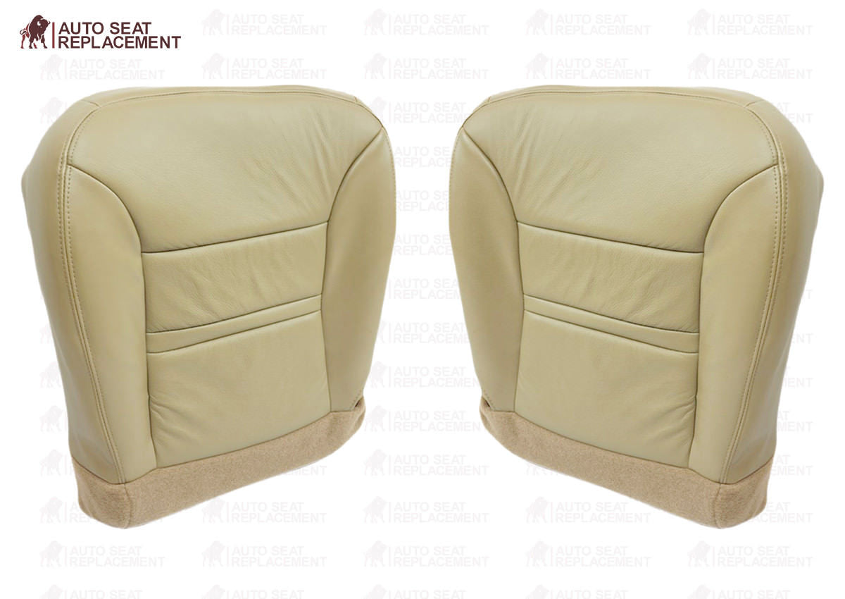 Tan 2005 Ford Excursion XLT-Passenger Side Seat Replacement Cloth Armrest Cover