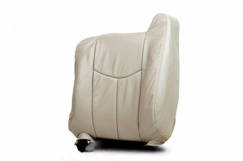 2003 2004 2005 06 GMC Yukon Driver Upper Top Back Leather Seat Covert Light Tan - Auto Seat Replacement
