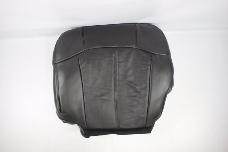 1999 2000 2001 2002 Chevy Silverado Bottom Driver Leather Seat Cover Dark Gray - Auto Seat Replacement