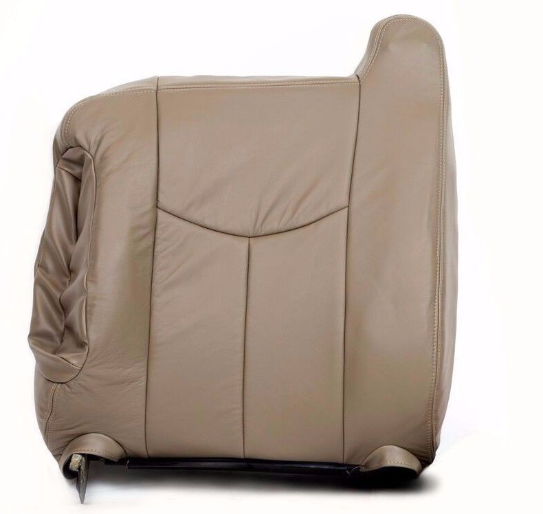 2003 2004 2005 2006 Chevy Silverado Driver Top Back Seat Cover TAN/ Vinyl-522 - Auto Seat Replacement