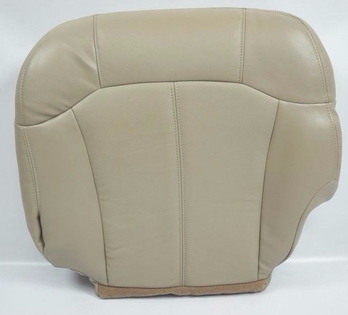 2000 2001 2002 Chevrolet Tahoe Suburban Driver Bottom Leather Seat Cover Tan - Auto Seat Replacement