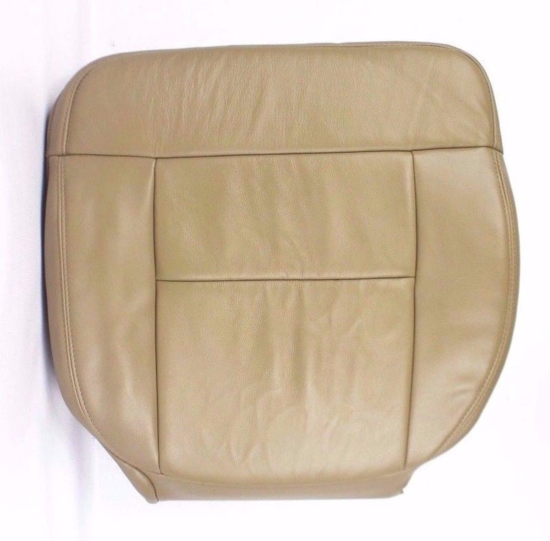 2004 2005 2006 2007 Ford F150 Lariat Driver Bottom Seat Cover Tan in Vinyl - Auto Seat Replacement
