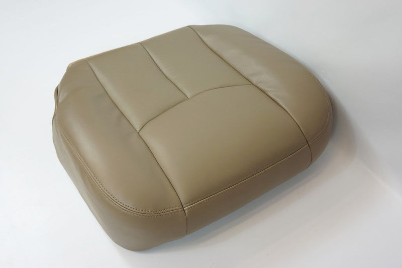 03-07 GMC Sierra 1500 2500 3500,HD Driver & Lean Back LEATHER Seat Cover TAN 522 - Auto Seat Replacement