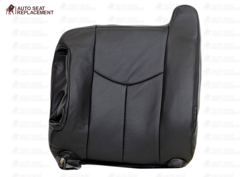 2003 To 2006 Chevy Silverado Driver Bottom-Top Back Leather Seat Cover Dark Gray - Auto Seat Replacement