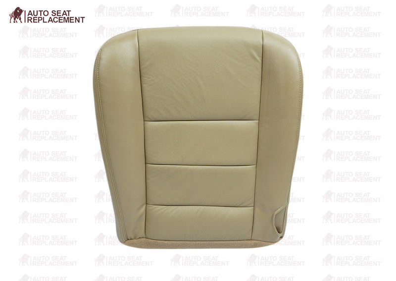 2002 To 2007 Ford F250 F350 Lariat Passenger Bottom-Back Leather Seat Cover TAN - Auto Seat Replacement