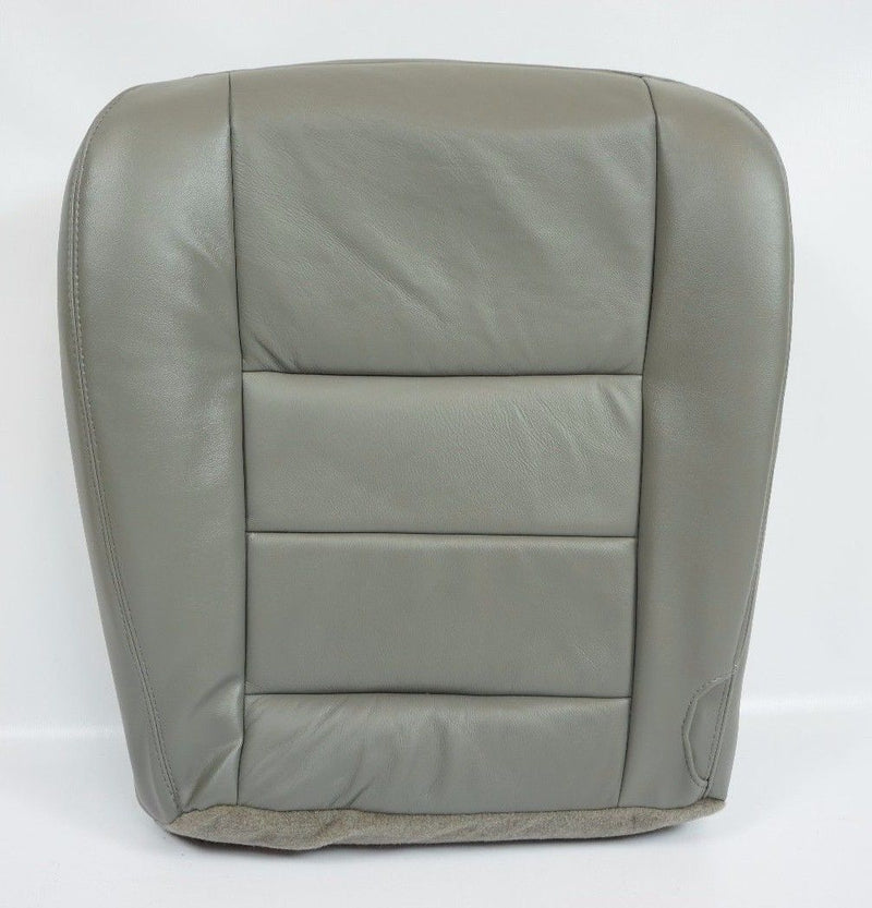 2002 2003 2004 2005 2006 2007 08 F250 F350 Lariat Bottom Leather Seat Cover Gray - Auto Seat Replacement