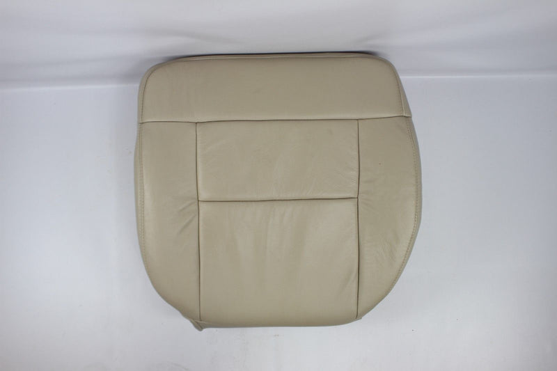 2004 Ford F150 Driver Or Passenger Bottom Leather or Vinyl Seat Cover Light Tan - Auto Seat Replacement