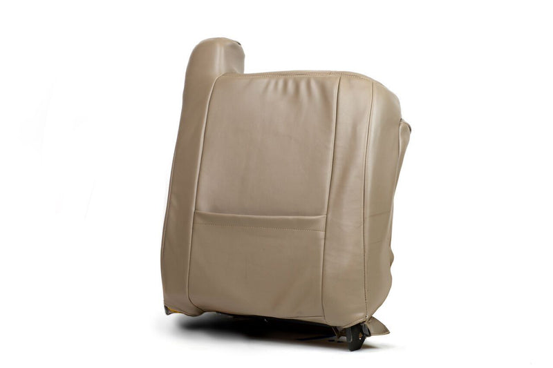 2003 2004 2005  GMC Sierra 2500 3500,HD Lean Back LEATHER Seat Cover TAN - Auto Seat Replacement
