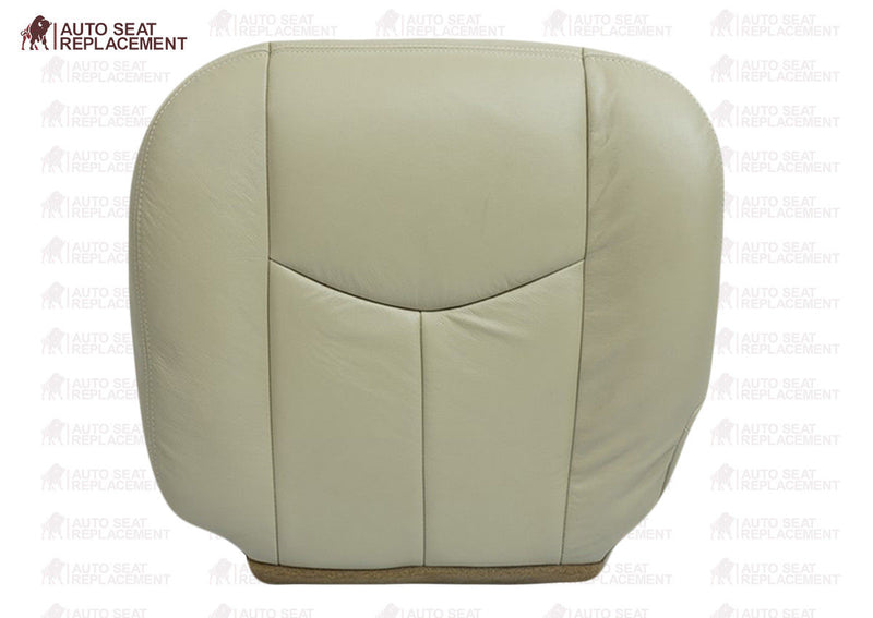 2003 2004 2005 2006 GMC Yukon Driver and Passenger Bottom Leather Seat Cover Tan - Auto Seat Replacement
