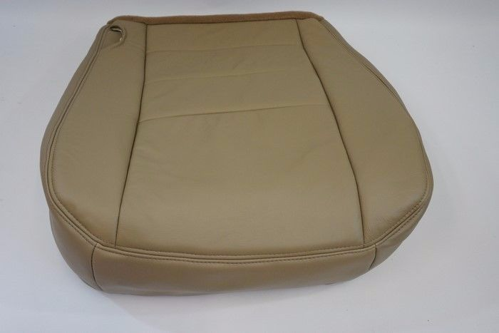 04 05 06 07 Ford F250 F350 Lariat XL XLTFX4 Driver Bottom Leather Seat Cover TAN - Auto Seat Replacement