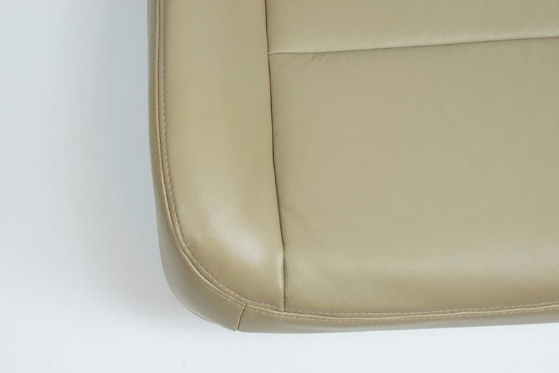 2002 - 2007 Ford F250 F350 Lariat Driver Bottom Seat Cover Parchment TAN / VINYL - Auto Seat Replacement