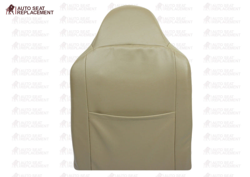 2002 To 2007 Ford F250 F350 Lariat Driver Bottom-Top-Back Leather Seat Cover TAN - Auto Seat Replacement
