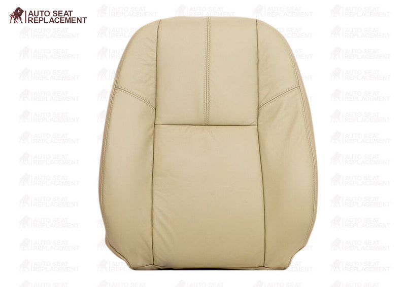 2008 2009 2010 2011 2012 2013 2014 Chevy Silverado Bottom Leather Seat Cover-Tan - Auto Seat Replacement