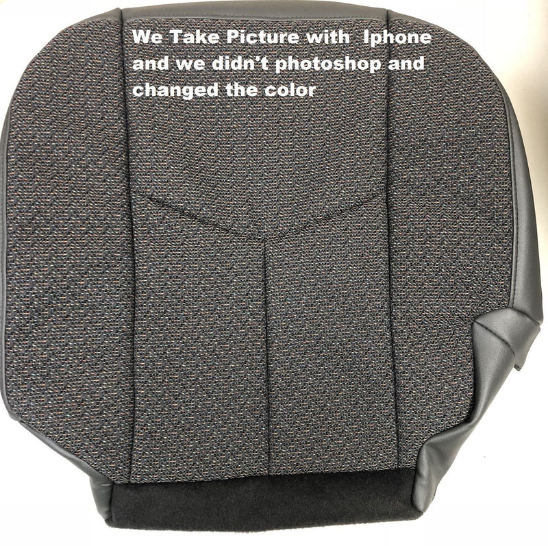 2003 2004 2005 2006 2007 Chevy Silverado 1500  2500 Driver Bottom Cloth Seat Cover Replacement Dark Gray 69D 69C Auto Seat Replacement