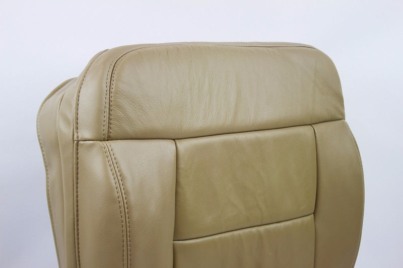 2005 2006 2007 008 F-150 Driver Bottom Leather Seat Cover Replacement Pebble Tan - Auto Seat Replacement