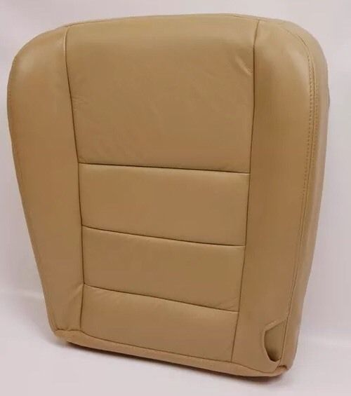 2004 Ford F250 F350 truck Driver Bottom captain chair Leather Seat Cover Tan - Auto Seat Replacement