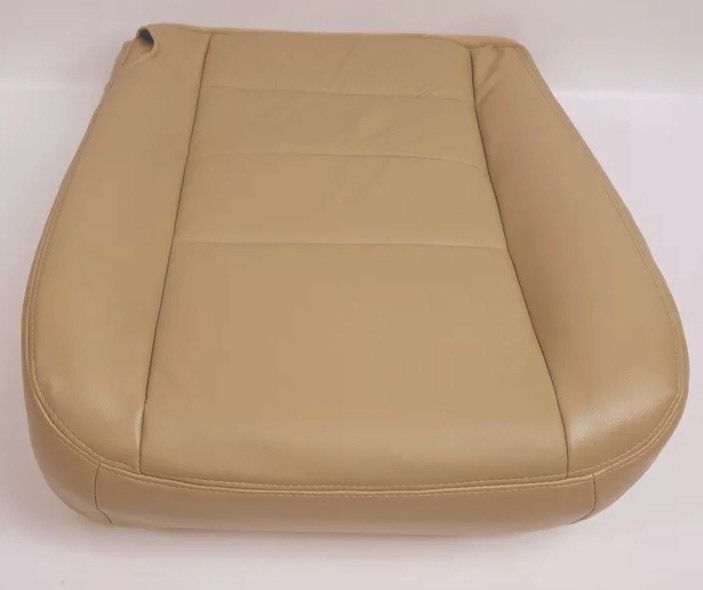 2002 2003 2004  Ford F250 F350 Lariat Driver Side Bottom Leather Seat Cover Tan - Auto Seat Replacement