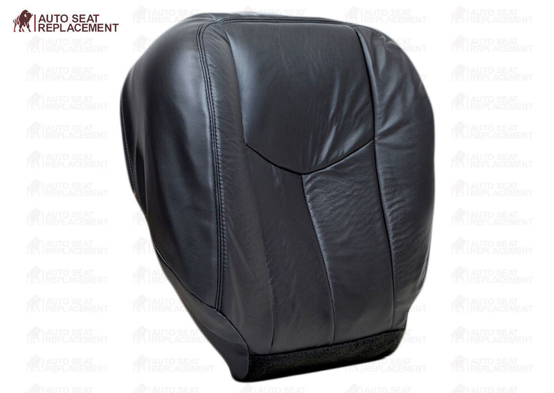 2003-2007 GMC Sierra Work Truck-Driver Side Lean Back Vinyl Seat Cover Dark Gray - Auto Seat Replacement